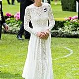 Kate Middleton in a White Dress 2017