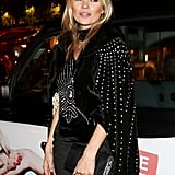 Kate Moss arrived at the Rimmel London 180 Years of Cool party at the London Film Museum.