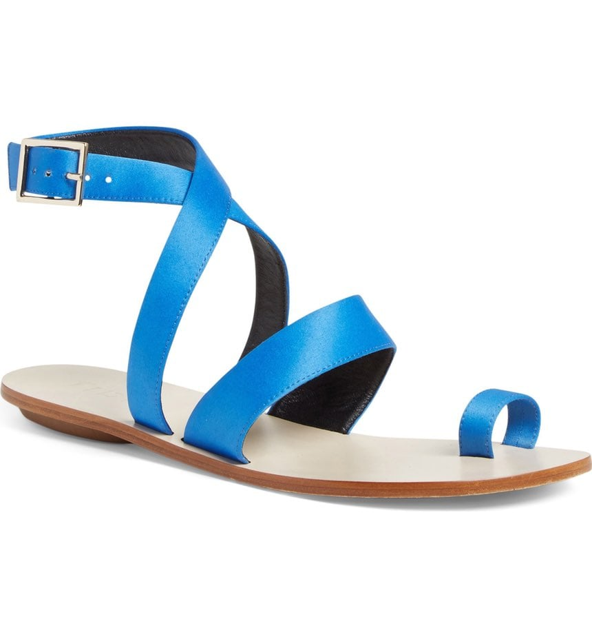 Tibi's Hallie Sandal ($325) comes in electric blue and keeps your easiest looks extra sharp.