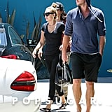 Miley Cyrus and Liam Hemsworth did Pilates together.