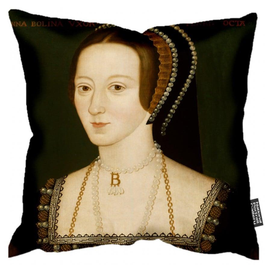 Anne Boleyn portrait cushion ($50)