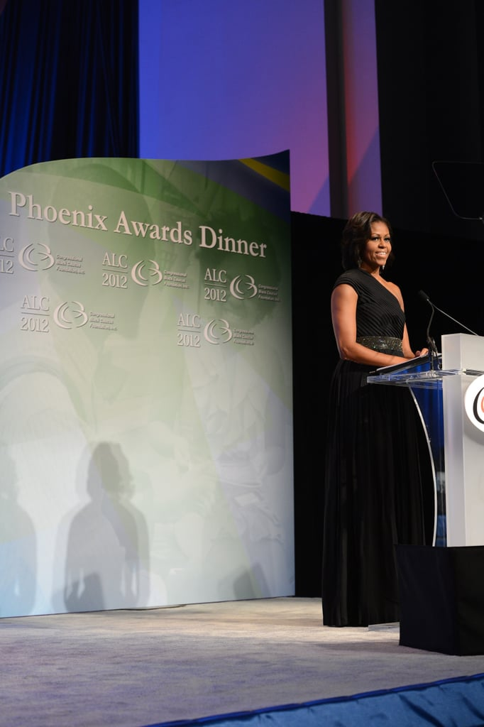 Wearing Michael Kors at the Phoenix Awards dinner in 2012.