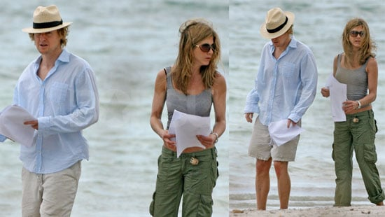 Jennifer Aniston and Owen Wilson on the Set of Marley And Me in Miami