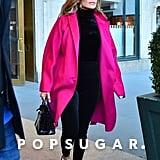 Jennifer Lopez Pink Coat With Alex Rodriguez March 2019