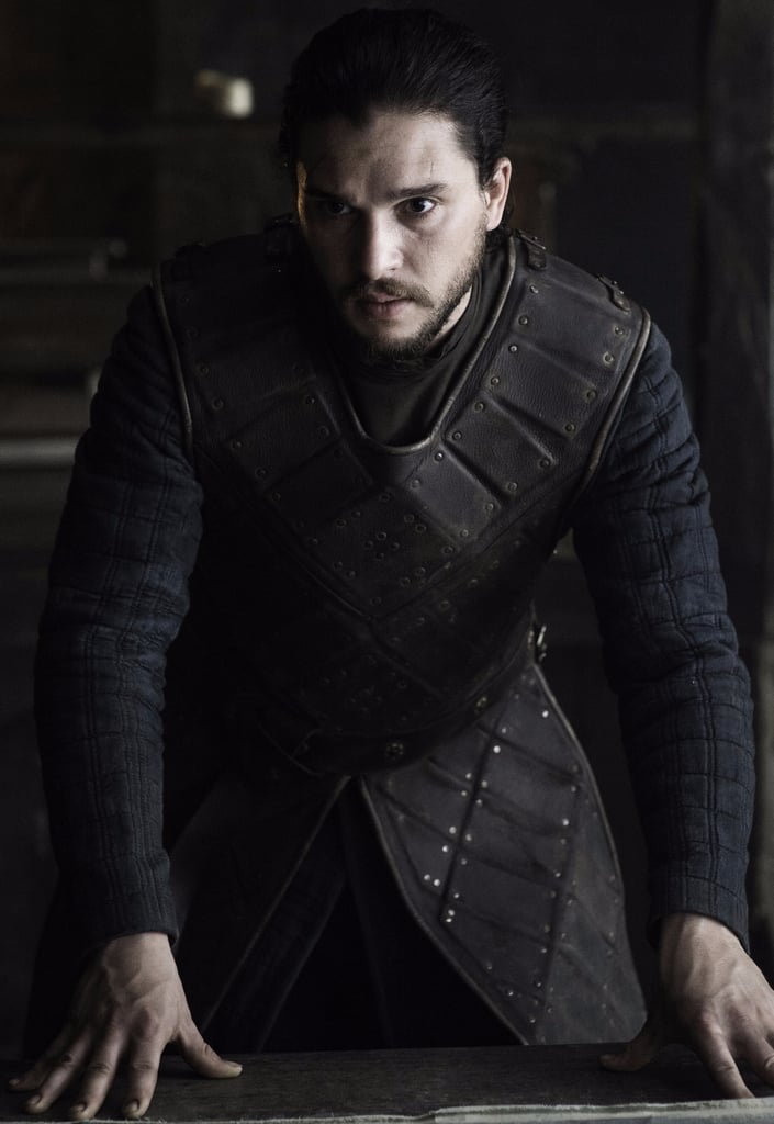 Jon Snow Wearing Ned Stark's Armor