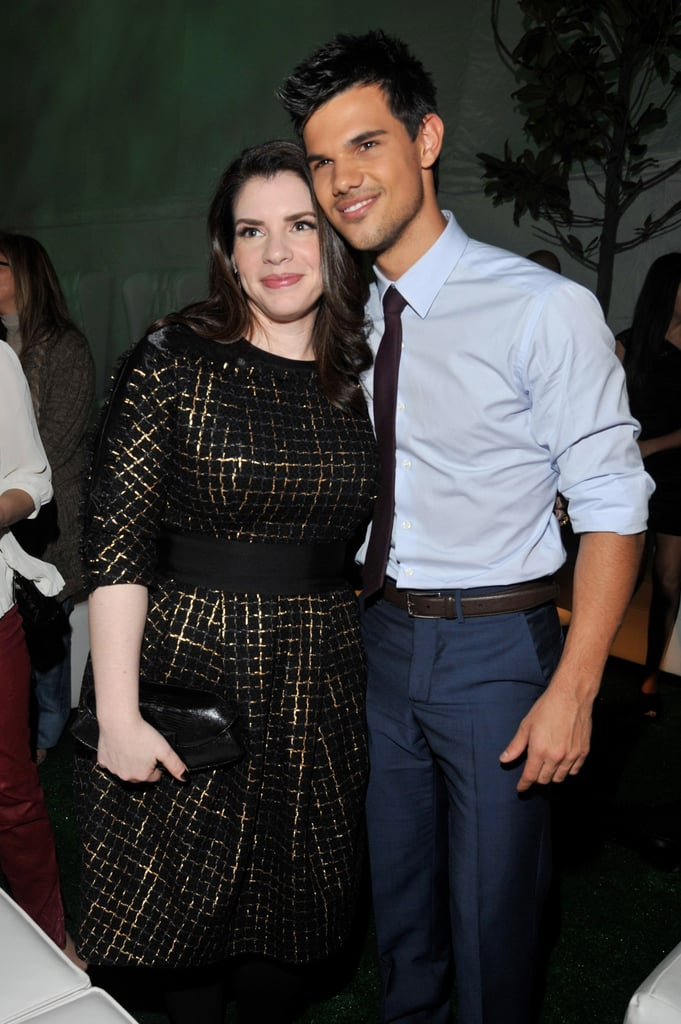 Taylor Lautner thanked Stephanie Meyer for all of her work.