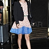 Rachel Bilson wore a Top Shop dress.