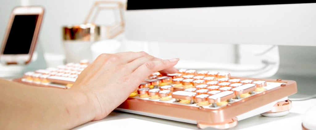 This Rose Gold Keyboard Is the Prettiest Thing We've Ever Laid Eyes On