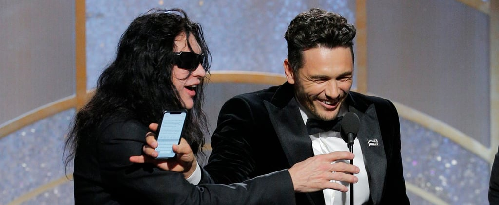 Who Was the Man on Stage With James Franco at the Globes?