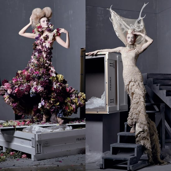 Alexander McQueen Iconic Designs Shot by Steven Meisel For Vogue