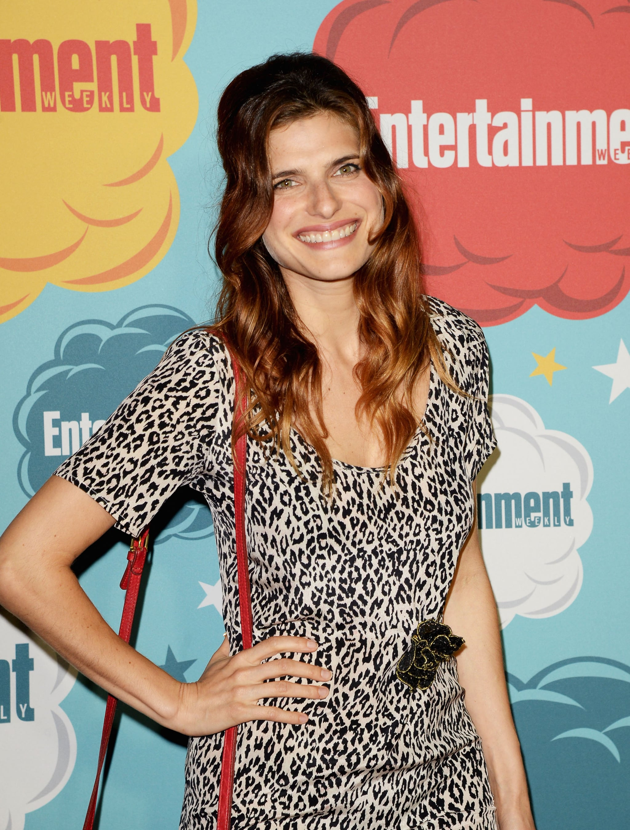 Lake Bell looked darling with a half-up style that showed off her gorgeous Summer highlights.