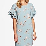 CeCe Floral-Print Ruffled Sleeve Dress Women