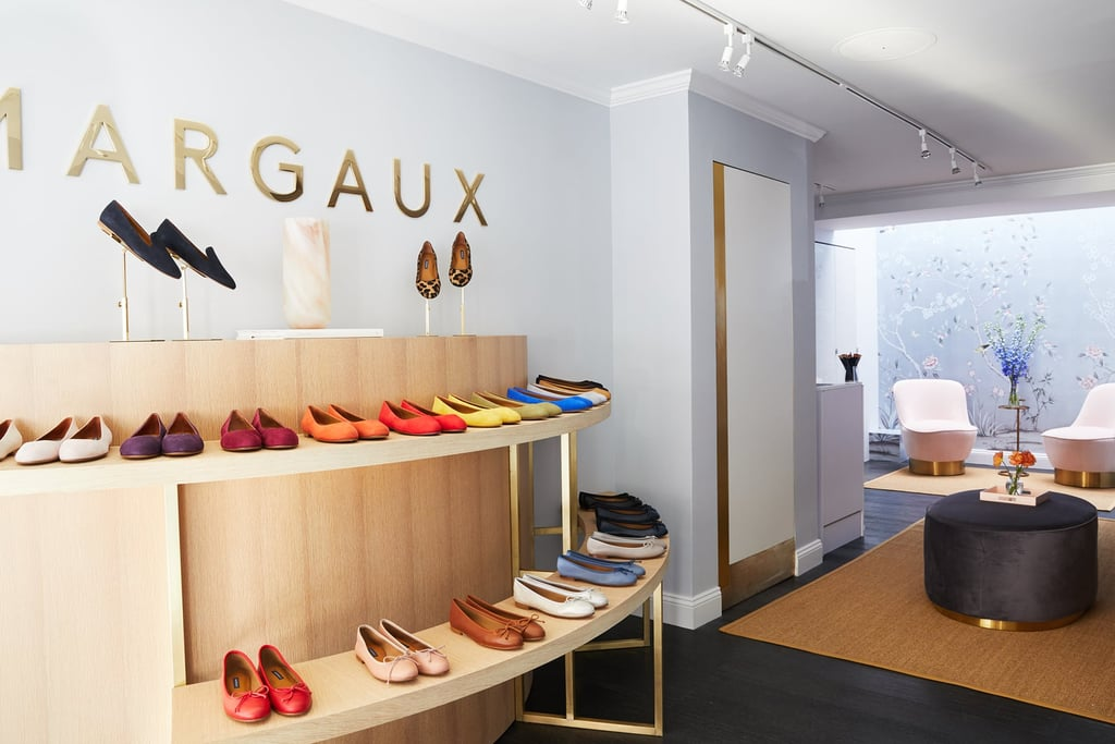 "Margaux was started in 2015 by Harvard grads Alexa Buckley and Sarah Pierson, on the hunt to bring a selection of shoes that actually fit to all the women who desired to wear them. The brand cites that ""recent studies have shown as many as 88 percent of women are wearing the wrong shoe size, whether in length or in width,"" adding, ""We're committed to offering an extended size range, multiple widths, and made-to-measure sizing so that every woman can find her perfect fit, regardless of size."" In fact, the shoes have such a great array of color, style, and width options that a shopper likely won't walk out of their gorgeous brick-and-mortar store with anything but dreams of their future outfits. When stepping into the oasis that the brand has created in their West Village shopping space, one can view every single style and color option available while simultaneously trying on others for fit, to ensure your personalized pair will be perfect. They then arrive at your doorstep just a few days later. Don't live near a store? The brand even offers a ""Fitting Kit"" that contains everything from their classic suede color swatches to a fitting tool, tape measure, and more."