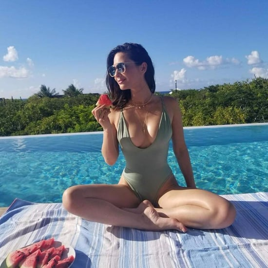 Olivia Munn Green One-Piece