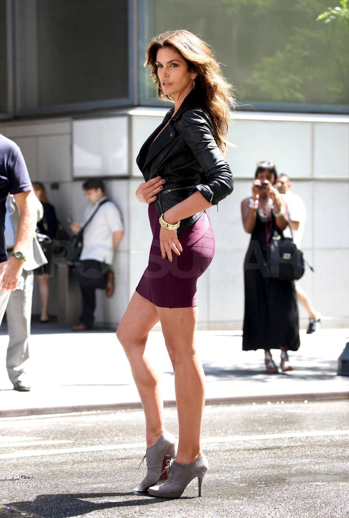 Cindy Crawford looked hot in NYC.