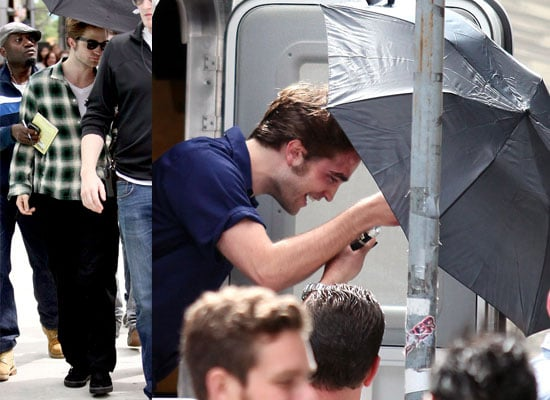 18/06/2009 Robert Pattinson Filming Remember Me In New York With Cuts And Bruises