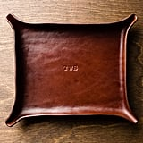 Monogrammed Leather Catchall