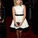 Ashley Benson wearing white on the red carpet.