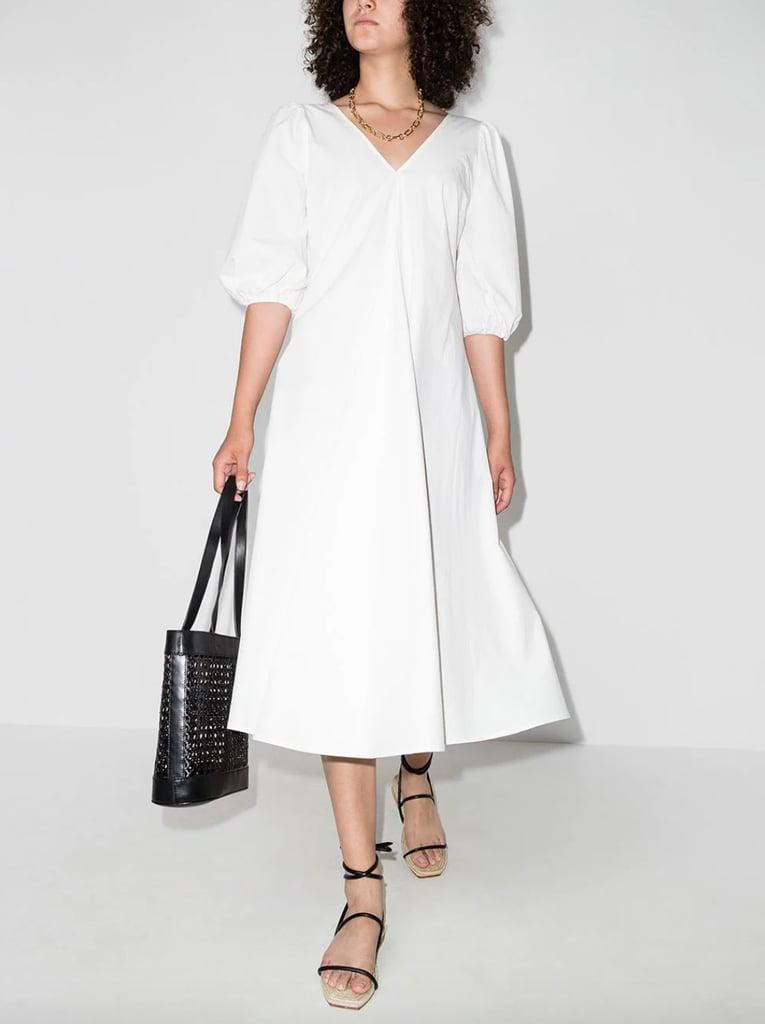 St. Agni Jude Puff-Sleeve Midi Dress