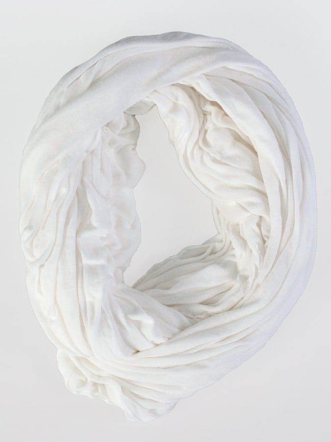 A gauzy scarf adds boho-cool flair to any look.  The Unisex Super Sheer Circle Scarf ($37)