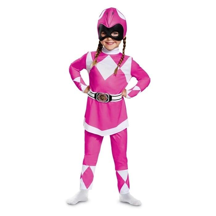 Toddler Girls' Power Rangers Mighty Morphin Pink Ranger Halloween Costume