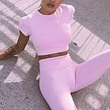 Saski Collections Light Pink Sports Crop