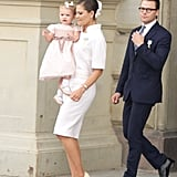 Crown Princess Victoria of Sweden wearing Chanel.