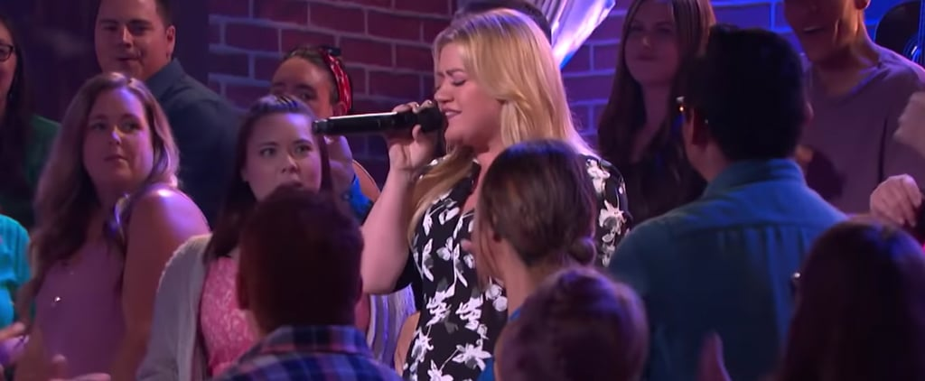 "Kelly Clarkson Singing ""Ain't No Other Man"" Video"