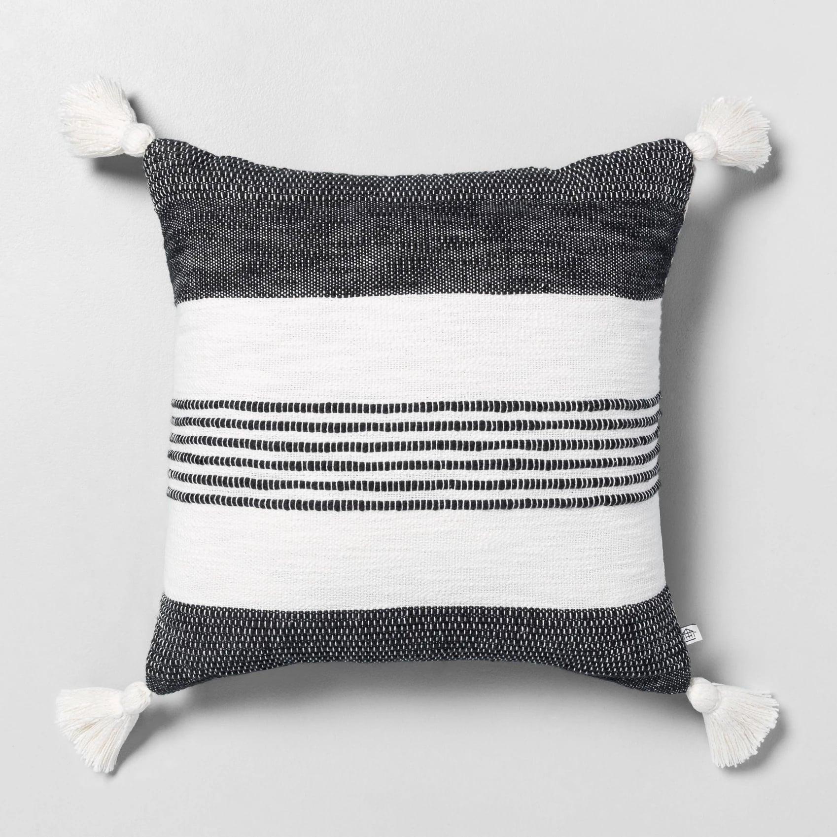 Centre Stripes Tassel Throw Pillow