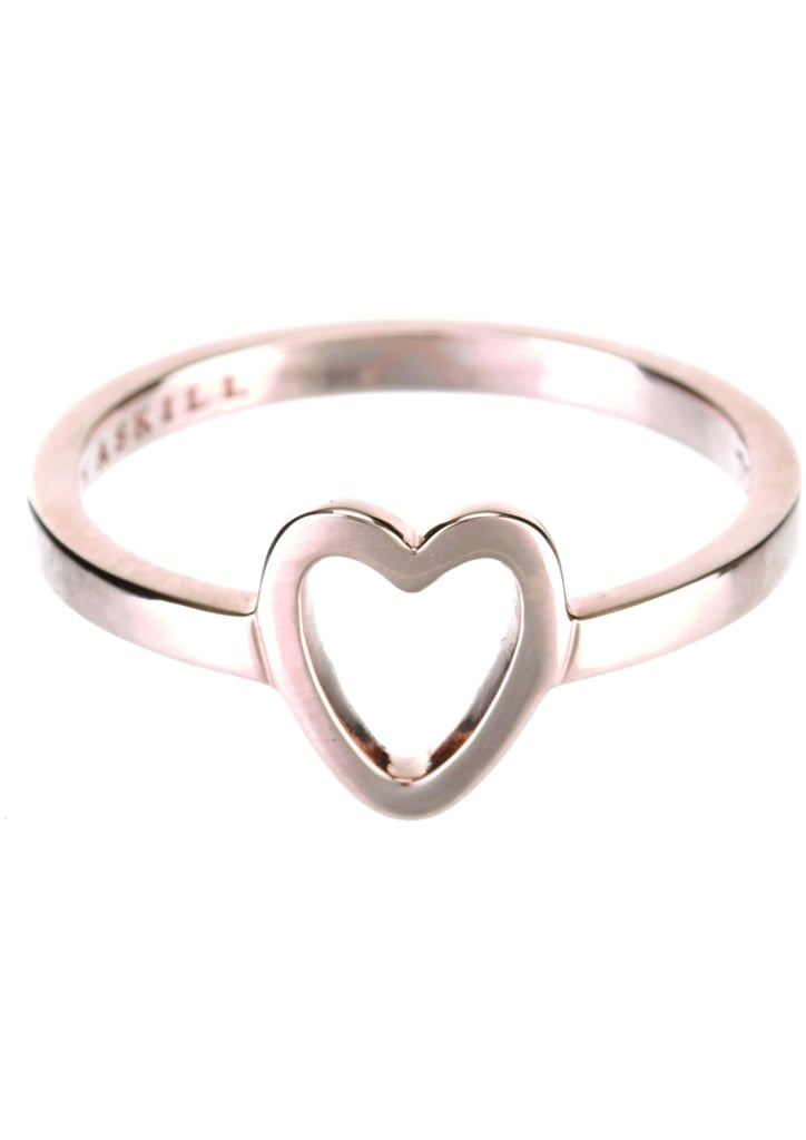 Thin heart ring, $48