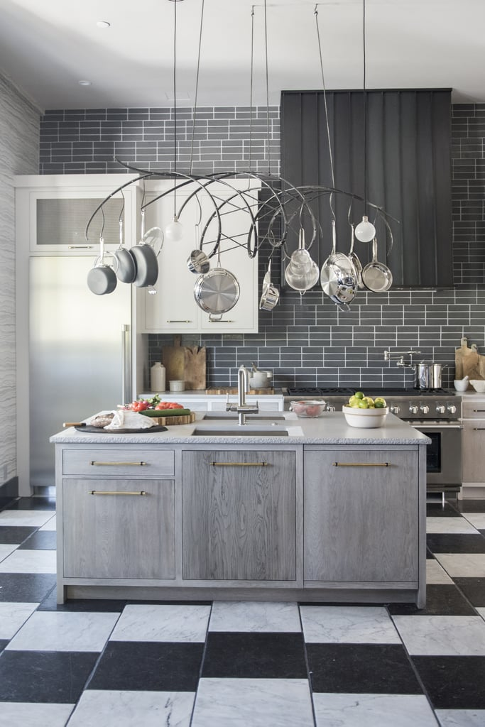 Overhead Pots and Pans Storage | Designer Kitchen Ideas 2017 ... on decorative wall tiles for kitchens, cheap countertops for kitchens, clocks for kitchens, lighting for kitchens, pot fillers for kitchen, decorative wall art for kitchens, new york city apartment kitchens, design ideas for kitchens, pot storage, best carpet for kitchens, stainless hoods for kitchens, huge kitchens, shades of blue for kitchens, pot and pan hanger, themes for kitchens, pots and pan organization for small kitchens, zinc countertops for kitchens, shabby chic small kitchens, greenhouse windows for kitchens, shelves for kitchens,