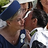 Sophie, Countess of Wessex With Frankie Dettori