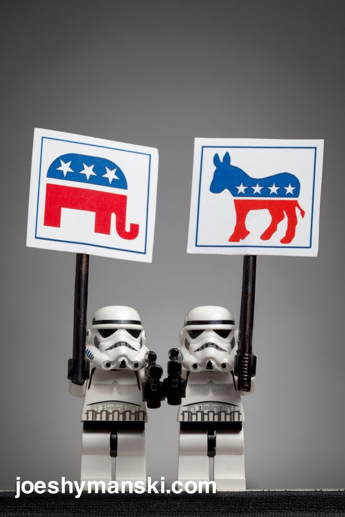 Even stormtroopers get divided along party lines.