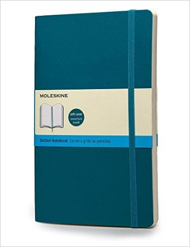 Moleskine Classic Colored Notebook, Extra Large, Dotted