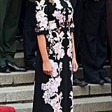 Melania in a Custom Dolce & Gabbana Dress