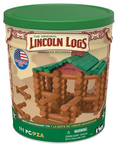 Lincoln Logs 100th Anniversary Wooden Toy Set