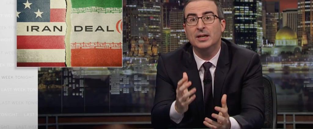 John Oliver Sean Hannity Fox News Ads on Iran Deal and Trump