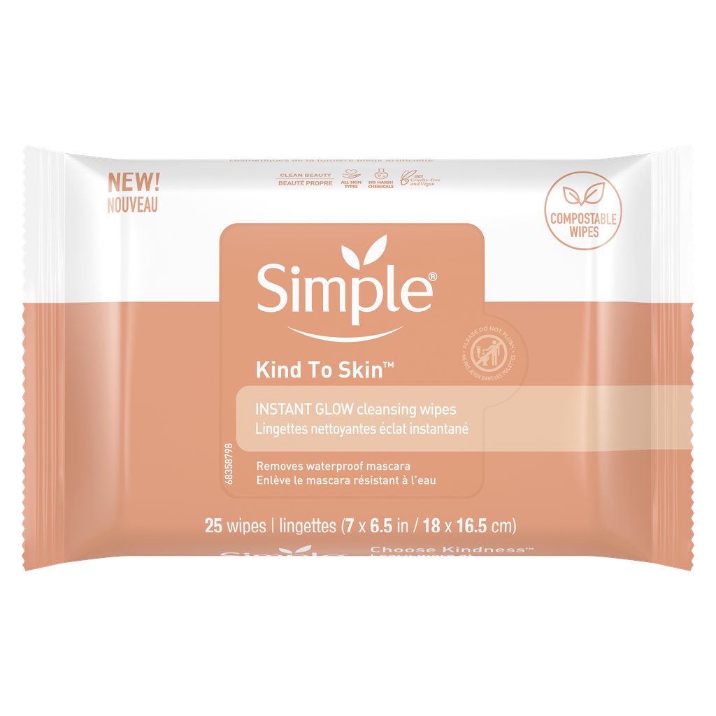 Simple Skincare Instant Glow & Defend Wipes