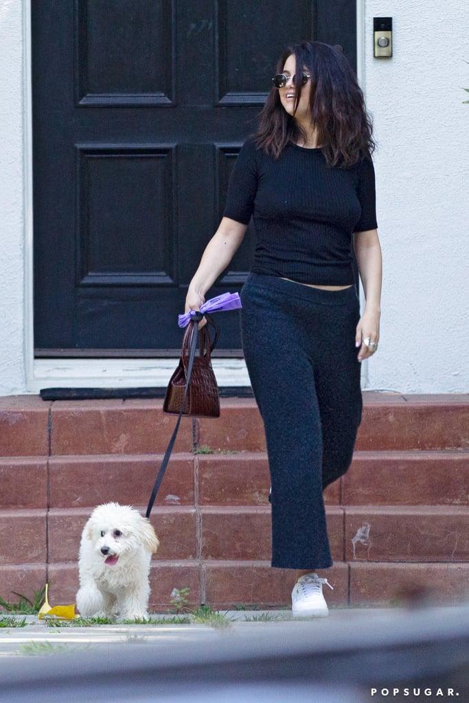 Selena Gomez Walking Her Dog in Los Angeles