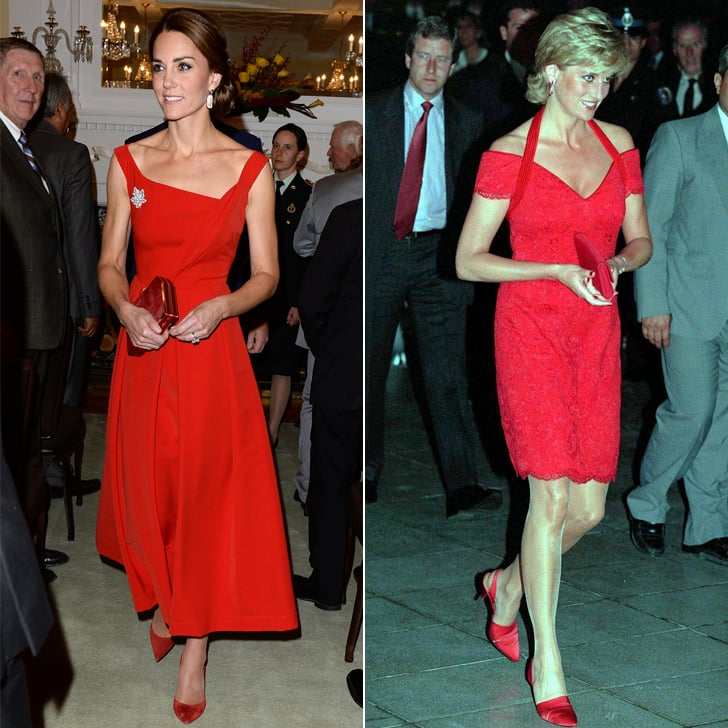 Red dress princess kate