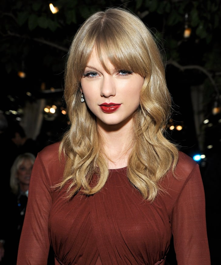 Taylor Swift S Dark Red Lipstick 2013 Popsugar Beauty