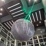 The Death Star, complete with its laser beam.