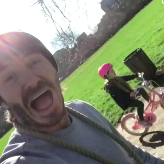 David Beckham's Video of Harper Riding a Bike March 2017