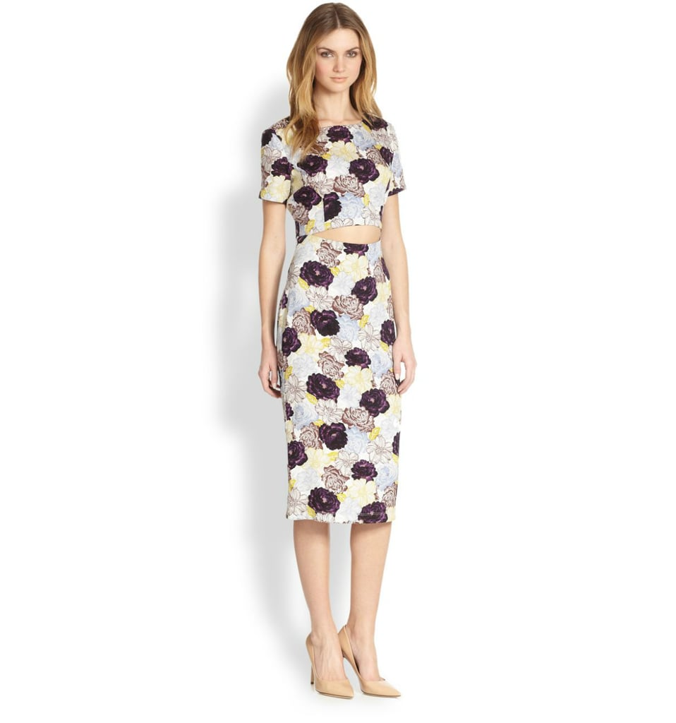 Suno Floral Cutout Dress