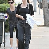 Sandra Bullock Stays Smiley Even Without Her Main Men