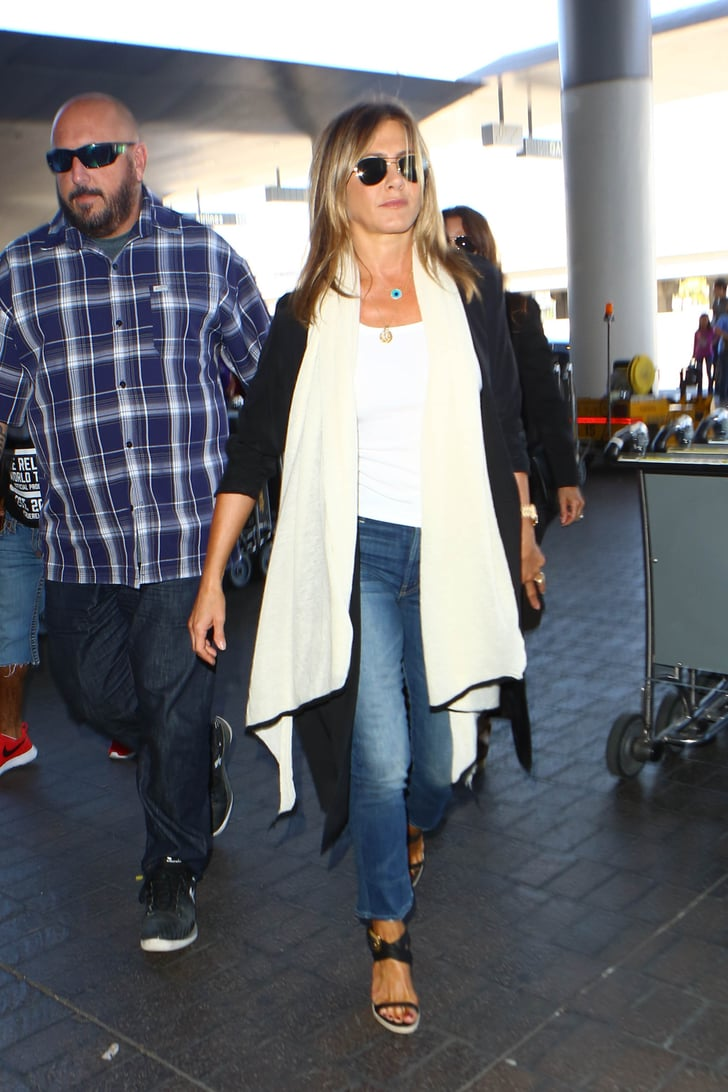Jennifer Aniston Travel Style July 2016 Popsugar Fashion Photo 4