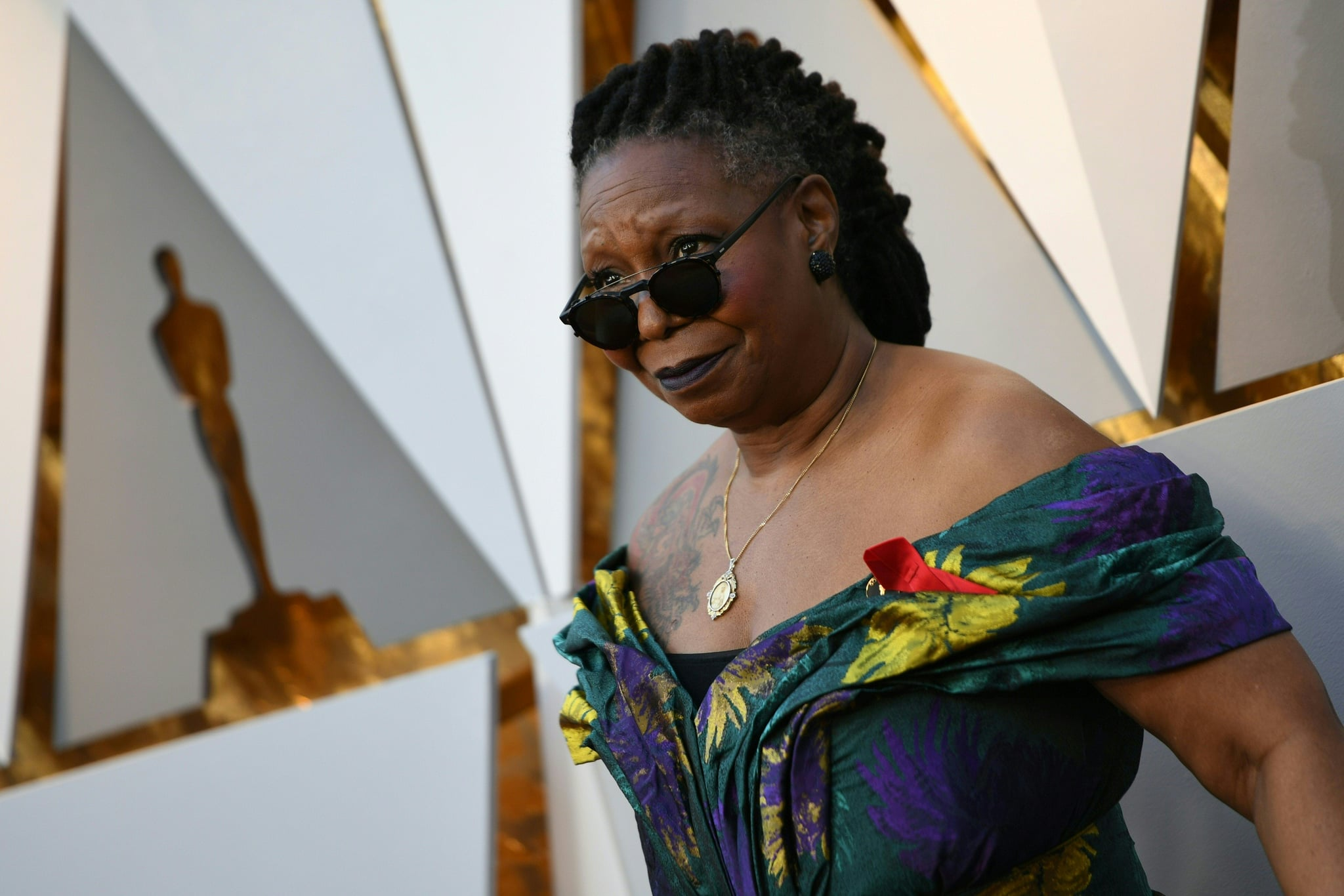 Whoopi Goldberg arrives for the 90th Annual Academy Awards on March 4, 2018, in Hollywood, California.  / AFP PHOTO / VALERIE MACON        (Photo credit should read VALERIE MACON/AFP/Getty Images)