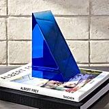 Deep Blue Acrylic Bookend ($100)