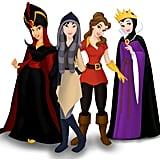 Jasmine, Mulan, Belle, and Snow White