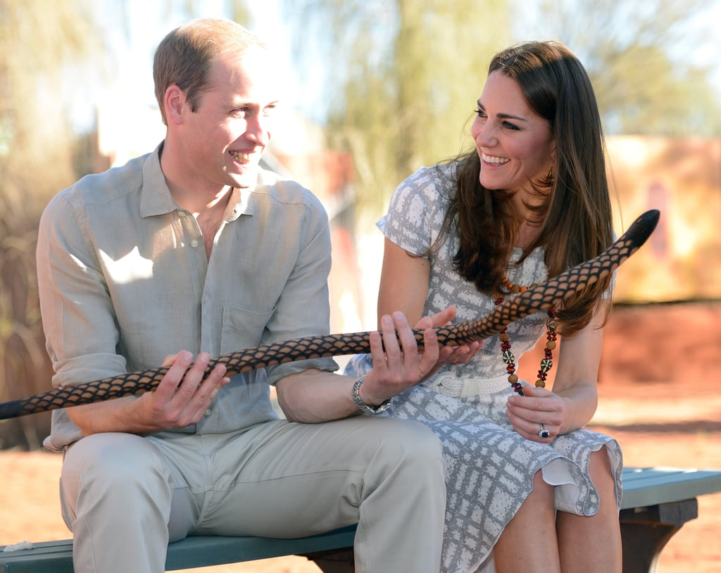 In April 2014, Kate Middleton gave Prince William the look of love while they visited the National Indigenous Training Academy in Ayers Rock, Australia.
